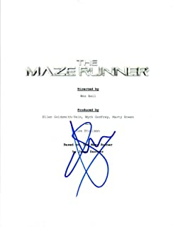 Will Poulter Signed Autographed THE MAZE RUNNER Movie Script COA