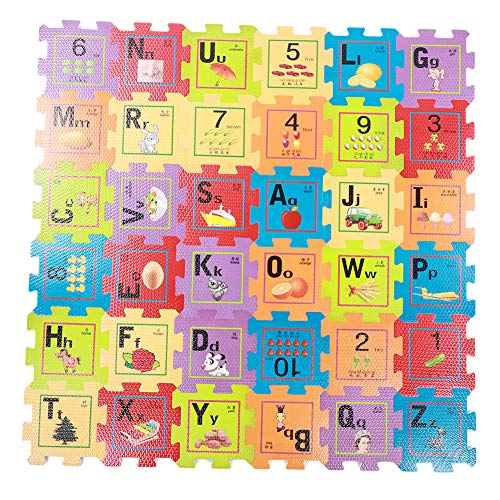 36pcs EVA Baby Play Mat, Baby Crawling Play Puzzle Mat Non-Toxic Gym Foam for Kids Children Baby Digital Jigsaw Carpet(Other)