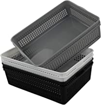 Vababa 6-Pack Plastic A4 Paper Organizer Storage Baskets Trays