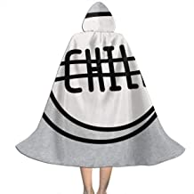 NSHANGMA Chill Pill Unisex Hooded Cloak Cape Halloween Party Decoration Role Cosplay Costumes Black