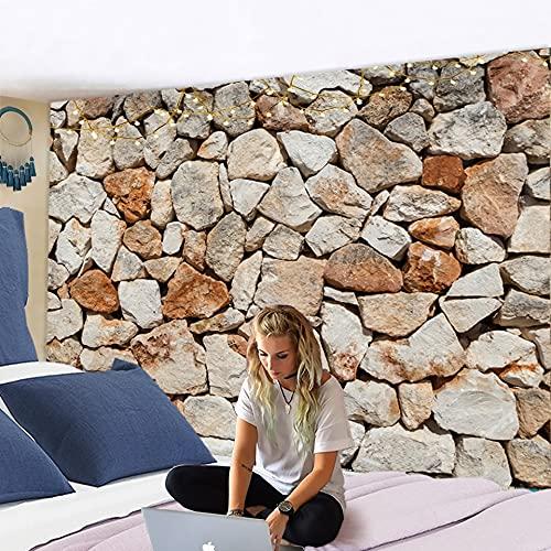 KHKJ Tapiz de mármol nórdico, Suelo de baldosas de cerámica, decoración de impresión, decoración de Pared de casa de Campo, Manta de ladrillo de Piedra Multicolor A4 150x130cm