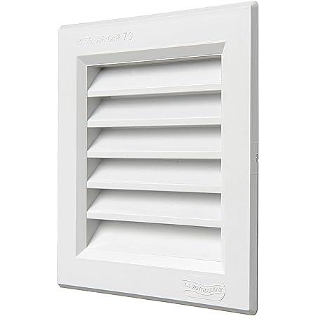 Brinox B70220D Rejilla de ventilación, Lacado Blanco, 15 x 15 ...