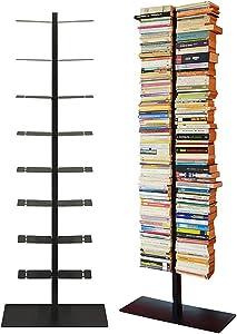 Radius Design booksbaum double stand gross schwarz, 3tlg. best.aus: Halterung + Fuß + Einlegeböden