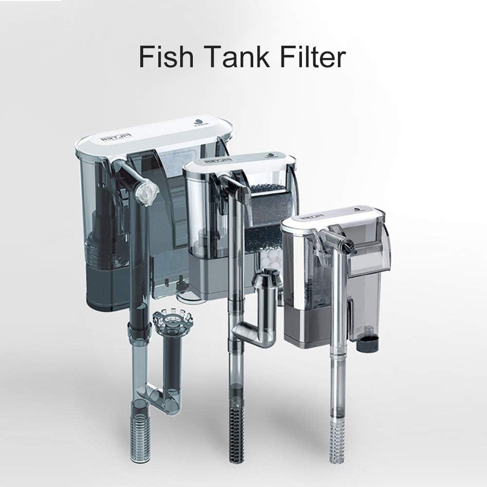 Nishore Filtro per Acquario Tipo 1-2,5 W, 160L // H, 187 * 88 * 80 mm Filtro Esterno Cascata Sospensione Pompa Filtro Sommergibile dellAcqua