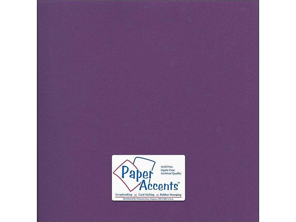 Accent Design Paper Accents Cdstk Canvas 12x12 80# Deep Purple