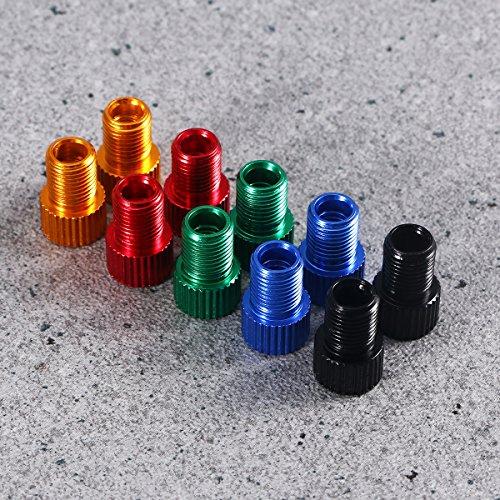 WINOMO Fahrrad Ventil Adapter 10 Stücke Aluminium PRESTA SCHRADER Konverter Auto Fahrrad Schlauchpumpe Kompressor Werkzeuge - 7