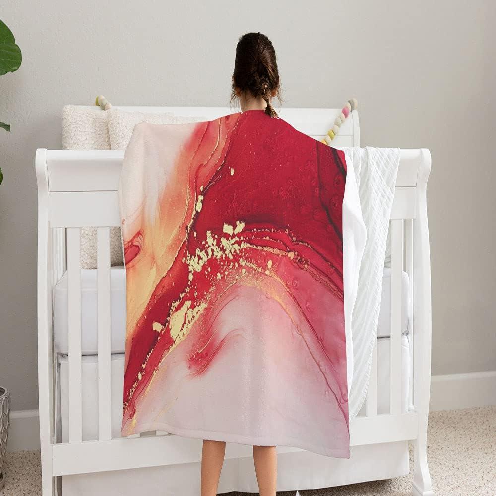 GANTEE Beautiful Background Fluid Art High quality Ink Arlington Mall Baby Alcohol Blanket