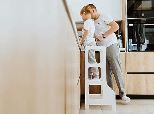 WERBUNG – richtige Verwendung eines Lernturms – Duck WoodWorks Küchenturm