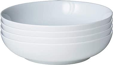 Denby WHT-052/4 White Set of 4 Pasta Bowl Set, One size, Neutral