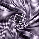 Stoff Baumwolle Vichy Karo klein lila weiß 1,5 mm Swafing