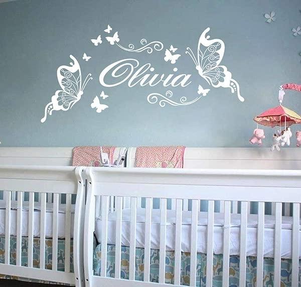 Ufengke Olivia Beautiful Butterflies Wall Decals Children S Room Nursery Removable Wall Stickers Murals