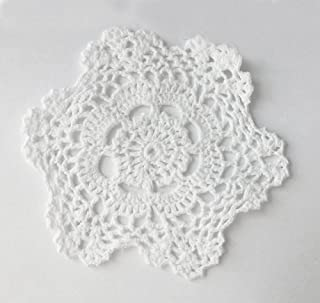 Fennco Styles Handmade Crochet Lace Cotton Doilies - 6-inch Round (12-pack, White)