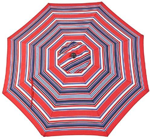 LYYJIAJU Parasolparasol Garden & Outdoors 10ft / 3m Garden Stripe Beach Multi Coloured Parasol Umbrella with Crank & Tilt, for Patio Backyard Holiday Outdoor Activities (Color : Style 4)