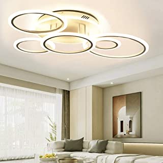 LED Ceiling Light Fixture,69W Modern Ceiling Lamps 6 Rings Modern Living Room Lighting Fixtures Ceiling with Remote for Bedroom,Dining Room,Kitchen(Dimmable,3 Color Changing)