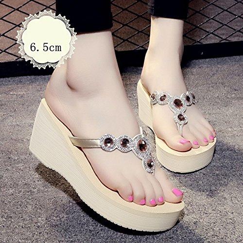 Sandalen Fashion Slippers Vrouwelijke zomer Slippery Feet Thick Bottom Slippers Student Beach schoenen stijlvol 36 A-6.5cm