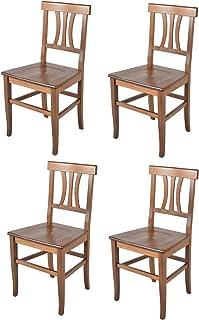 Tommychairs - Set 4 sillas Artemisia para Cocina y Comedor, Estructura en Madera de Haya Color Nogal Claro y Asiento en Madera