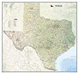 National Geographic: Texas Wall Map (40.75 x 38.5 inches) (National Geographic Reference Map)