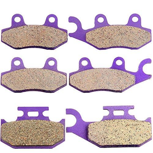 ECCPP Front and Rear Carbon Fiber Brake Pads Fit for Yamaha Raptor 700 YFM700R YFM700RSE YFM700RSE2 YFM700RSP YFM700RSP YFM700RSP2 YFM700RYR Yamaha Rhino 450 660