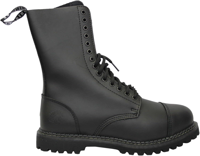 Smart Range Leather Grinders Herald CS Black 14 Hole Men's Ladies Safety Steel Toe Boots