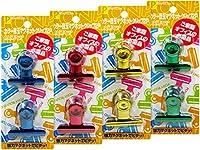 カラー目玉マグネットクリップ2P(4色) 【まとめ買い12個セット】 4158