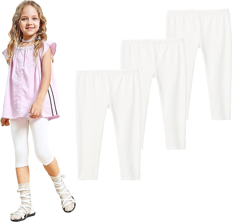TEGEEK Toddler Little safety Girls Basic discount S Leggings Capri Stretch Print