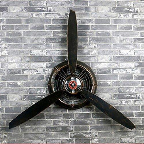 restaurant decoraties LOFT Wanddecoraties zwart Retro industriële stijl Vliegtuigen propeller Decoraties ijzer Muur opknoping Hanger Wanddecoratie L*B*H 67 * 7 * 53cm wanddecoratie