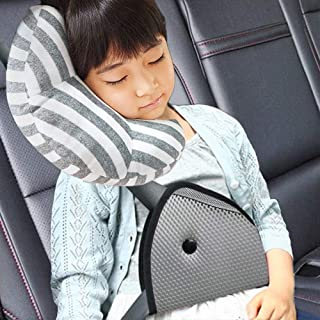 DODYMPS Car Seat Travel Pillow Neck Support Cushion Pad and Seatbelt Adjuster for Kids,..