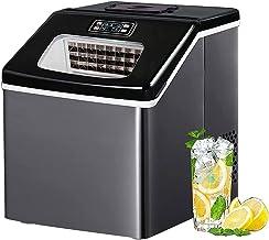KSDCDF Machine à glaçons à comptoir avec auto-nettoyage, machine à glaçons automatique compacte 24h, pour obtenir 24 pcs à...