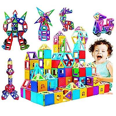 infinitoo Blocs Construction Magnétiques | 109 Pièces Mini Jeux de Construction Magnetique Colorée 3ère-Version | Idéal Cadeau pour Bébé à Partir de 3 Ans …