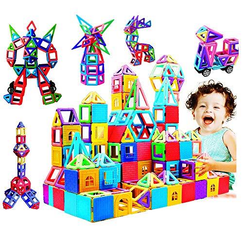 infinitoo Blocchi Costruzioni Magnetiche 146 Pezzi Puzzle Costruzioni Magnetiche Kit di Blocchi Magnetici per Sviluppare l'Intelligenza e la Memoria di Bambini