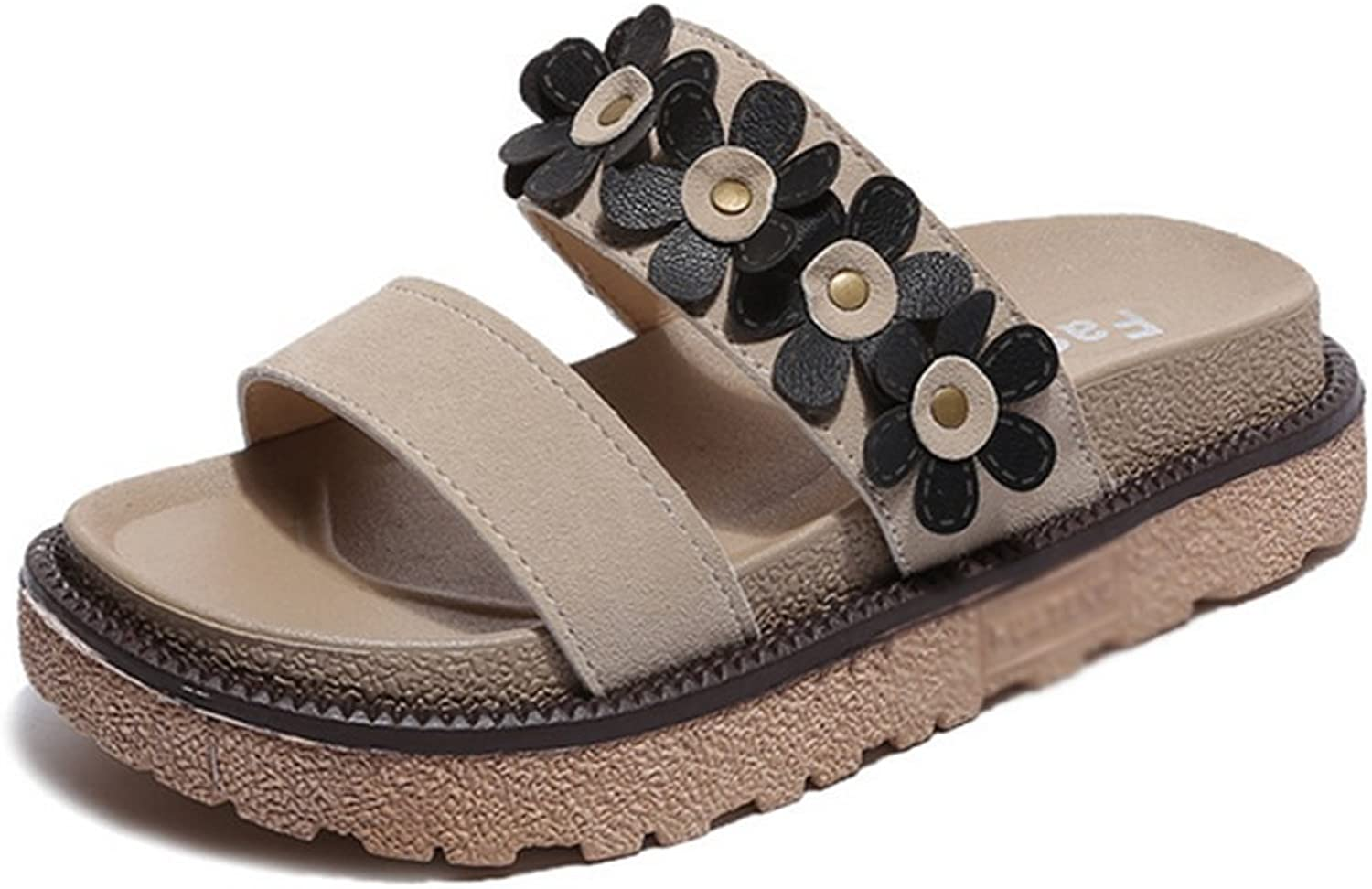 Weiwei Lady Summer Thick-Soled Slippers,Casual Roman Style Soft Slippers