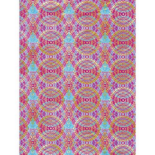 Décopatch Papier No. 394 Packung mit 20 Blätter (395 x 298 mm, ideal für Ihre Papmachés) rot, mozaik