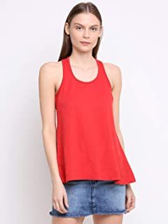 RUTE Women's Cotton Jersey Sleeveless Solid Top with Plus Size (2XS to 10XL)