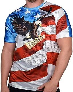 Mens Crewneck Sublimation Print T-Shirt