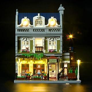 BRIKSMAX Parisisk restaurang LED-belysningskit – kompatibel med Lego 10243 byggklossar modell – inkluderar inte Lego setet