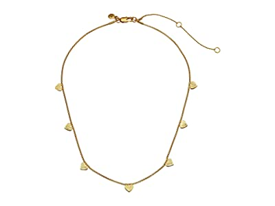 Madewell Heart Delicate Necklace (Vintage Gold) Necklace