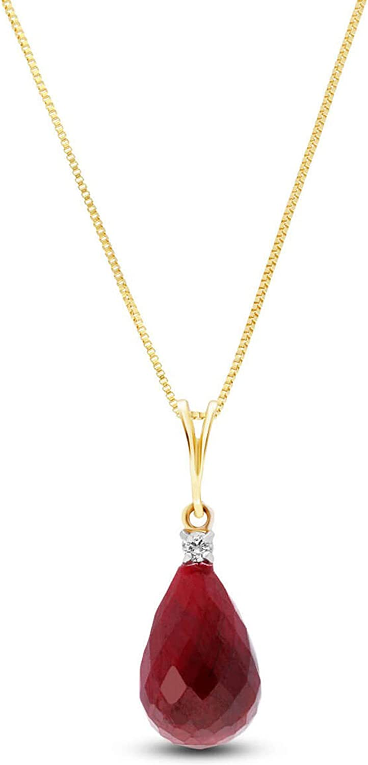 Galaxy Gold GG 14K Diamond Ruby Necklace Yellow Max 65% OFF Manufacturer direct delivery