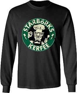 TMB Apparel New Novelty Shirt Swedish Chef Sesame Starborks Kerfee Funny Men's Long Sleeve T-Shirt