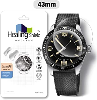 Smartwatch Screen Protector Film 43mm for Round Wrist Watch Healing Shield Analog Watch Glass Screen Protection Film (43mm) [1PACK]