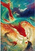 Lanxing 300/500/1000 Pieza Rompecabezas for niños, Pintura de la Historieta del Animado Big Fish Begonia Arte, Educación Jigsaw Puzzle Juegos Familiares for los Juguetes, ( Color : A , Size : 500pc )