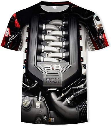Camiseta Hombres Motor 3D Digital Imprimen Camisetas Unisex ...