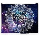 PPOU Mandala Starry Sky Tapiz Geométrico Manta para Colgar en la Pared Estera de Picnic Mantel Cama Funda de sofá Decoración del hogar Tapiz Pared A3 180x200cm