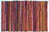 Guru-Shop Alfombra de Patchwork Ligera, Acolchado de Patchwork 100x160 cm - Naranja-multi, Algodón, Alfombras y Alfombrillas