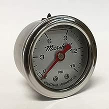 Marshall Instruments LS00015 Liquid Filled Fuel Pressure Gauge Silver