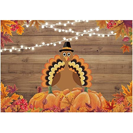 Thanksgiving Day Backdrop 7x5ft Polyester Photography Background Retro Happy Thanksgiving Wooden Signpost Backdrop Maple Leaves Studio Family Kids Baby Child Festival Celebration Backdrops