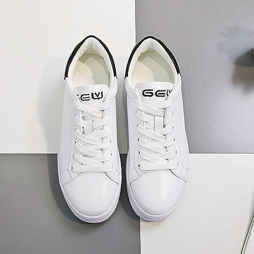 Chaussures de sport FUFU pour Femmes Comfort Spring Fall Chaussures de Marche Plateforme décontractée en Dentelle extérieure Pendant 18 à 40 Ans (Couleur   1002, Taille   EU37 UK4-4.5 CN37)