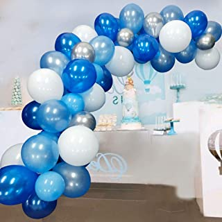 Blue Balloon Garland Kit Blue White Sliver Balloon Garland Arch Kits Metallic Royal Blue..