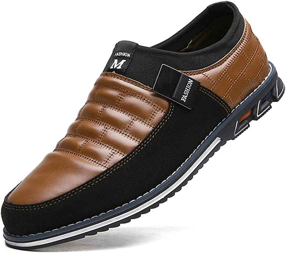 Mens Driving Ankle Leather Classic Boat Loafer Male Outdoor Lightweight Casual Slip-On Business Office Shoes
