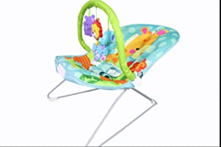 New-Born Baby Swing Chair with Calming Vibrations,Rainforest Take Along Swing and Seat Set, Songs and Sounds, Suitable from Birth Green