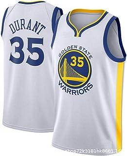 d3464f3b289ee runvian Maillot de Basket pour Hommes -NBA Kevin Durant #35 Golden State  Warriors Jersey